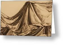 Draped Fabric Greeting Card