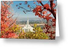 Draper Temple Oaks Greeting Card