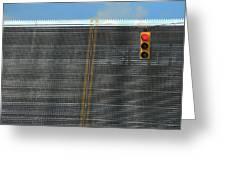 Drawbridge And Stoplight Greeting Card
