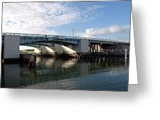 Drawbridge At Port Canaveral In Florida Greeting Card