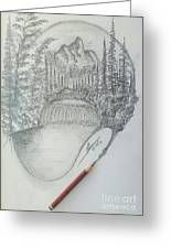 Drawing A Masterpiece  Greeting Card