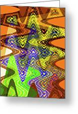 Drawing Color Squares Abstract Greeting Card