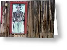 Drawing John Wayne Hondo  Medicine Horse Black Canyon City Arizona 2005 Greeting Card