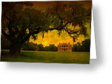 Drayton Hall Plantation In Charleston Greeting Card