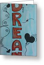 Dream Acrylic Watercolor Greeting Card