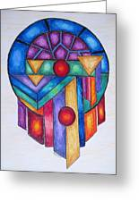 Dream Catcher Abstract Greeting Card