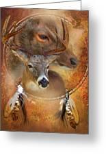 Dream Catcher - Autumn Deer Greeting Card