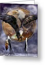 Dream Catcher - Spirit Eagle 3 Greeting Card