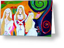 Dream Of A Jungian Marriage Greeting Card