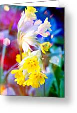 Dream Of Yellow Flowers Greeting Card
