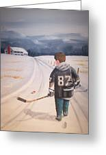 Dream Walking - The Kid Greeting Card by Ron  Genest