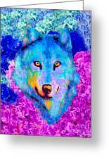 Dream Wolf Greeting Card