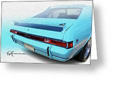 Amx Blue Butte Greeting Card