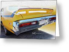 Screamin' Yellow Buick Greeting Card
