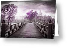 Dreaming At Dawn In Pink Greeting Card