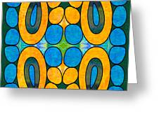 Dreaming In Circles Abstract Hard Candy Art By Omashte Greeting Card