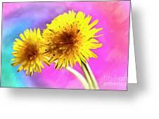 Dreaming Of Dandelions Greeting Card