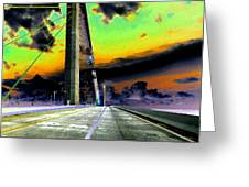 Dreaming Over The Skyway Greeting Card