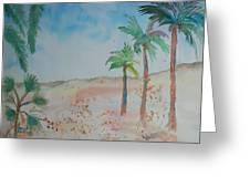 California Beach Greeting Card