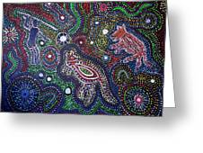 Dreamtime Of The Dingo Greeting Card