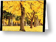 Dreamy Autumn Gold Greeting Card