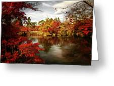 Dreamy Autumn Impressionism Greeting Card