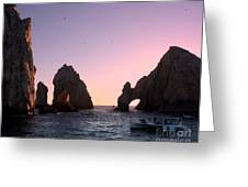 Dreamy Cabo Sunset The Arch Greeting Card