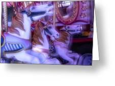 Dreamy Carrousel  Horses Greeting Card