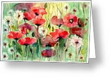 Dreamy Hot Summer Fields Greeting Card
