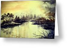 Dreamy Lake Greeting Card