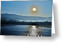 Dreamy Morning On The Ganges Greeting Card