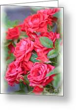 Dreamy Red Roses - Digital Art Greeting Card