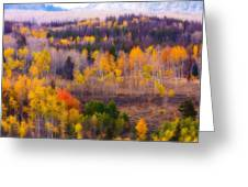 Dreamy Rocky Mountain Autumn View Greeting Card