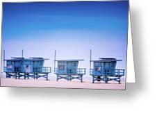 Dreamy Santa Monica Beach Greeting Card
