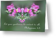 Dreamy Snap Dragon Abstract Phil 4 V 5 Greeting Card by Linda Phelps