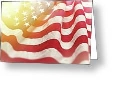 Dreamy Usa Flag 1 Greeting Card