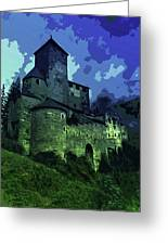 Dreary Fortress Greeting Card