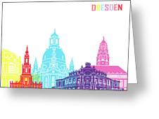Dresden Skyline Pop Greeting Card