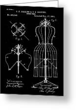 Dress Form Patent 1891 Black Greeting Card