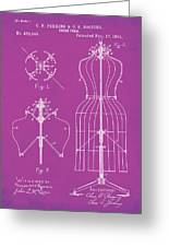 Dress Form Patent 1891 Pink Greeting Card