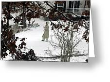 Dressed For Snow Greeting Card