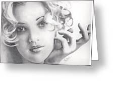 Drew Barrymore Greeting Card