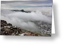 Drfiting Fog Greeting Card