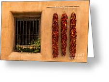 Dried Chilis And Window Greeting Card
