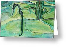 Drifting Seahorse Greeting Card