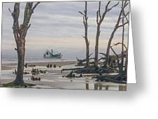 Driftwood Shrimper Greeting Card