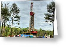 Drilling For Oil In South Alabama Greeting Card