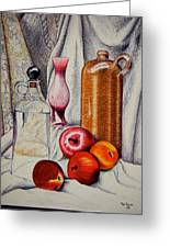 Drink And Fruit Greeting Card by Ron Sylvia
