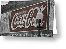 Drink Coca Cola Roanoke Virginia Greeting Card