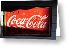 Drink Coke Greeting Card